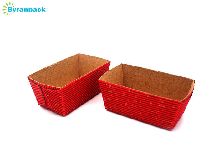 Eco Friendly Red Personalized Cake Boxes / Non Stick Cardboard Cake Boxes