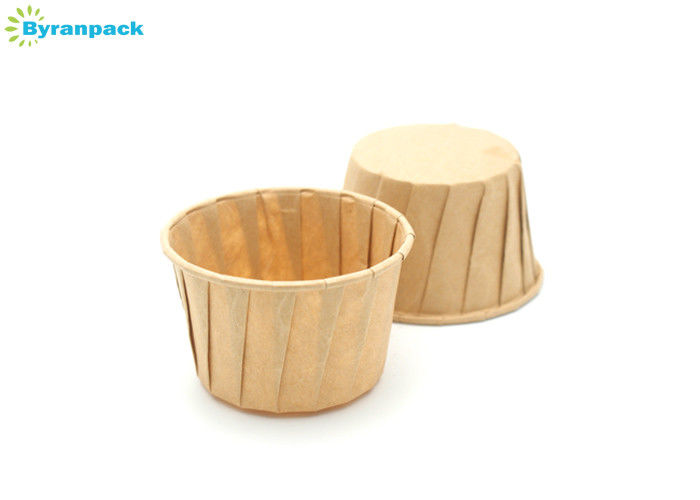 Small Greaseproof Pleated Baking Cups With Unbleached Kraft Paper Material