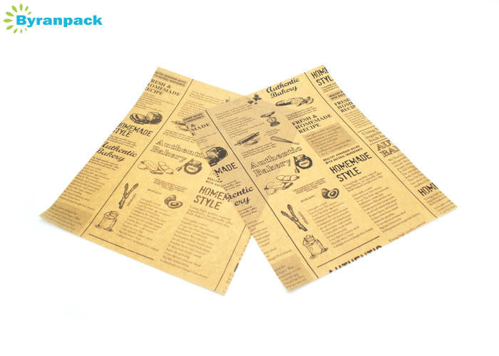 Non Stick Sheets Food Wrapping Paper Wrapping Tissue Unbleached Newspaper Printed