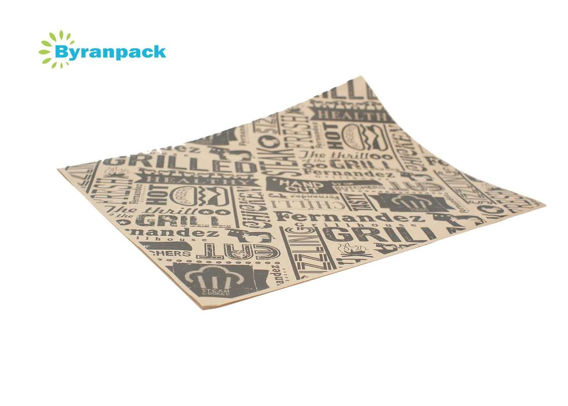 Greaseproof Coated Food Wrapping Paper Printed Customerized Basket Liners