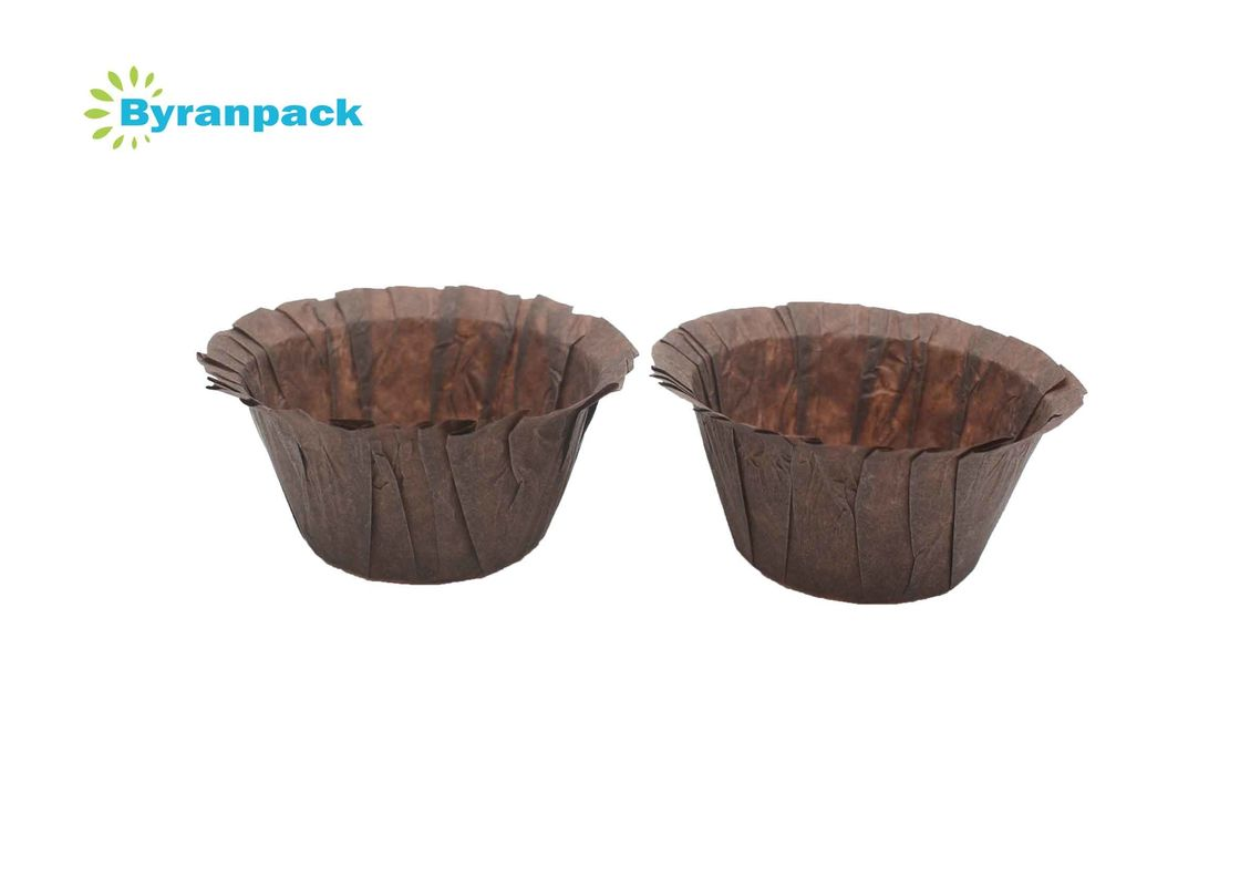 Brown Food Grade Greaseproof Paper Muffin Cases Nordic Paper 5*4CM Standard Size
