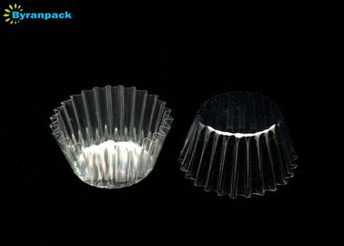 China PET Greaseproof Clear Cupcake Liners / Beautiful Greaseproof Baking Cups Transparent factory