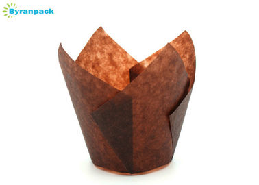 Tulip Brown Paper Baking Cups , Holiday Party Greaseproof Tulip Muffin Cases