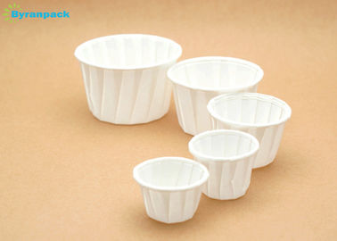 Round Degradable Souffle Cup / Disposable White Pleated Muffin Cases