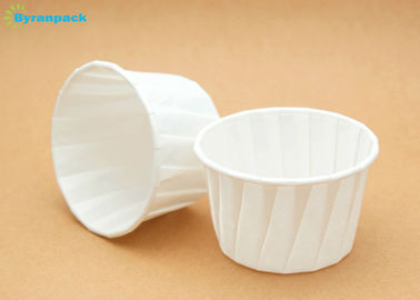 Biodegradable White Pleated Baking Cups Paper Souffle Sauce Portion Cups 0.5/0.75/1/1.25oz