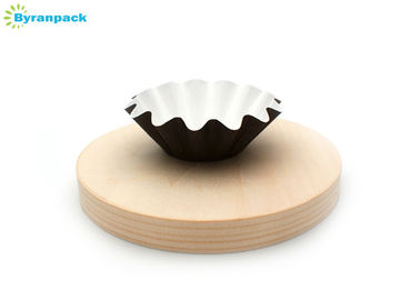 Unique Wavy Rim Brown Paper Cupcake Liners For Food Factory 80*27mm