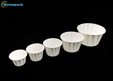 China White Souffle Portion Cups / Disposable Small Paper Souffle Cups Eco - Friendly factory