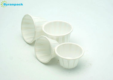 Round Pleated Baking Souffle Portion Cups Greaseproof With Different Size / Color