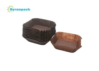 China Square Brown Greaseproof Cupcake Liners Food Grade Small Cupcake Paper Cups factory