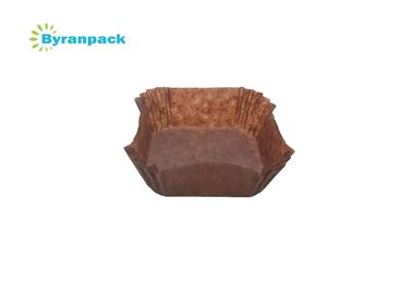 China Heat Resistance Greaseproof Baking Cups Brown Color Food Grade Small Size factory