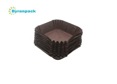 China Square Shape Greaseproof Baking Cups Multi Color Heat Resistance Muffin Cases factory