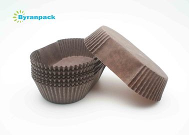 China Multi Boat Shape Brown Greaseproof Mini Cupcake Liners Customerized Packaging Design factory